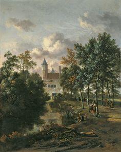 Jan Wijnants - Kasteel in een bos (1667)
