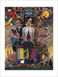 A Tale of Last Chances - Limited Edition Print by Aaron Jasinski - Signed and numbered edition of just 150 prints. Available at Eyes On Walls http://www.eyesonwalls.com/products/a-tale-of-last-chances