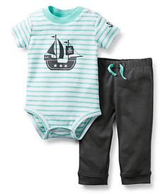 Carter´s Newborn-24 Months Striped Sailboat Bodysuit & Pant Set | Dillard's Mobile