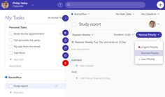 Set Task Priority: you can now set the task priority in 3 levels - Urgent, Normal and Low. #taskmanagement #productivity