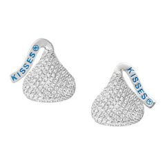Sterling Silver Small CZ Hershey Kiss® Stud Earrings #hersheys #jewelry #candy #love