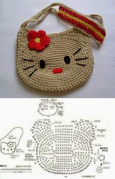 Tutoriales y DIYs: Bolsito Hello Kitty a ganchillo