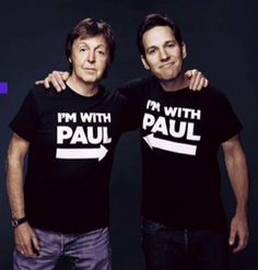 Paul McCartney and Paul Rudd///This is the best photo ever