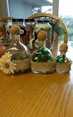 Recycled Patron bottles - candy gift