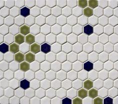 """Pratt & Larson Tile: PF-1HNX 1"""" Hexagon field, netted"""