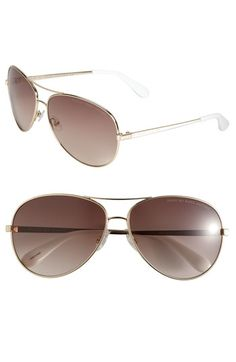 MARC BY MARC JACOBS Metal Aviator Sunglasses available at #Nordstrom