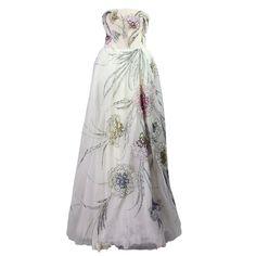 Bergdorf Goodman Custom Tulle Gown Circa 1961
