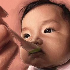 #baby #life #family #cute #chubby #newborn #babyart #happiness #feeding