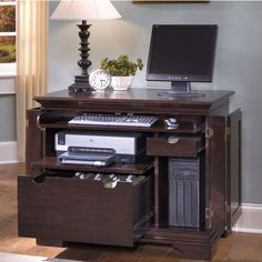 Home Styles Windsor Compact Computer Desk in Windsor Cherry  #kitchensource #pinterest #followerfind