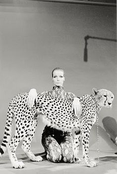 Famous fashion model Veruschka photography by Franco Rubartelli