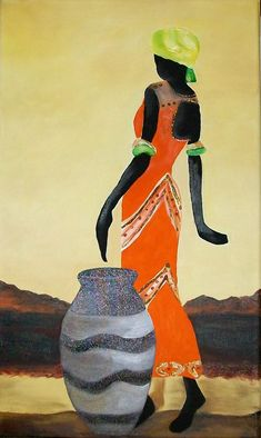 siluetas de africanas para imprimir - Buscar con Google African Beauty, African Women, Afrique Art, African Quilts, African Art Paintings, Style Africain, African Theme, African Style, Black Artwork