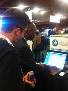 Khalil Malik, CEO of okdo.it ~ Showing a Demo at @TechCrunch #Disrupt SF 2012