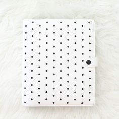 Leather Personal Planner with Zip - Pause. The colour of the planner shown may differ to the actual product slightly due to lighting. Kikki K Planner, Large White, My Ebay, Planners, Polka Dots, Leather, Black, Black People, Organizers