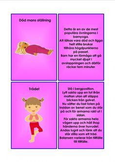 Barnyoga kort. Yoga For Kids, Exercise For Kids, Study Tips, Study Hacks, Learn Swedish, Swedish Language, Yoga Tips, Learning, Massage