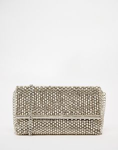 Dune Eternity Silver Beaded Clutch