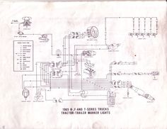 ford truck technical drawings and schematics section h wiring 1965 ford b f and t series tractor trailer marker lights