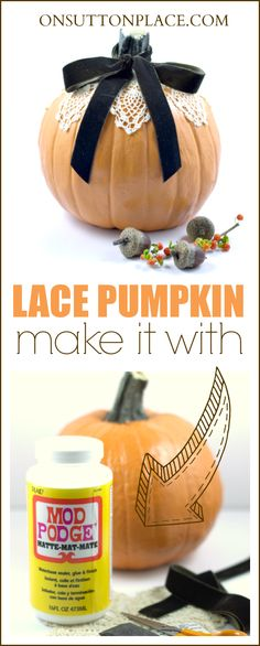 Isn't she cute? Super simple way to dress up your pumpkin that anyone can do!