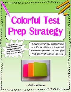 """FREE Colorful Test Prep Strategy - students learn how to """"tag"""" their work to show their level of understanding. I'm not a teacher but I color code EVERYthing. Teaching Math, Student Learning, Teaching Resources, Teaching Ideas, Maths, Levels Of Understanding, Study Skills, Elementary Education, Physical Education"""