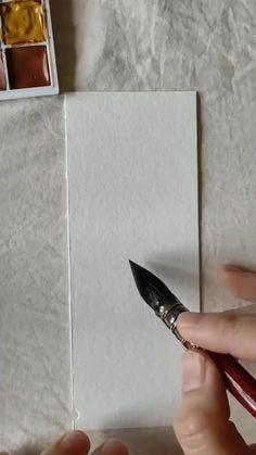 Watercolor Art Lessons, Watercolor Paintings For Beginners, Watercolor Landscape Paintings, Watercolor Flowers Tutorial, Diy Canvas Art, Flower Art, Art Drawings, Watercolors, Easy Water Colour Painting