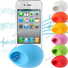 Colorful Egg Shaped Silicone Audio Amplifier Loud-speaker for iPhone 4G/ 4S MSK-82514