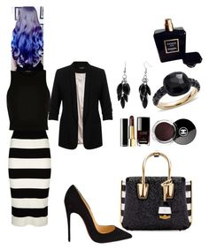 """""""#DS#"""" by kivericdamira ❤ liked on Polyvore featuring Milly, Christian Louboutin, MCM, Miss Selfridge, River Island, Alexa Starr, Pomellato and Chanel"""