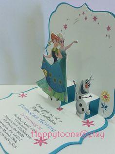 Frozen fever pop-up birthday invitations. Birthday por HappyToons
