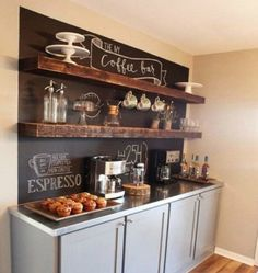 14 Tips for DIYing a Coffee Bar at Home via Brit + Co.