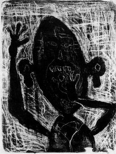 Man eating a small stone. Jean Dubuffet - part 1