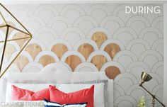 DIY wood scalloped wall