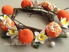 Mandarine din polimer lut cu mâinile