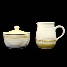 Franciscan Earthenware, Sugar Creamer Set,Hacienda Gold, Mid Century Dinnerware, China Set, Serving Dishes, Pottery Earthenware, Retro Mod by ClassicEndearments on Etsy