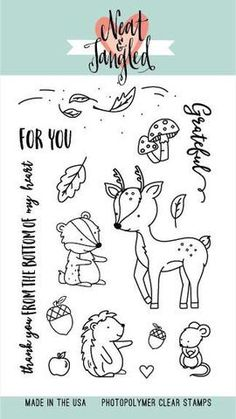Neat and Tangled - INTO THE WOODS - Clear Stamps set - Hallmark Scrapbook - 1