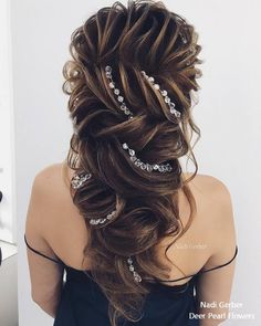 17 Best Long Wedding & Prom Hairstyles from Nadi Gerber : 17 Best Long Wedding &. - - 17 Best Long Wedding & Prom Hairstyles from Nadi Gerber : 17 Best Long Wedding & Prom Hairstyles from Nadi Gerber – My Stylish Zoo Wavy Wedding Hair, Long Hair Wedding Styles, Wedding Hair And Makeup, Bridal Hair, Short Hair Styles, Loose Hairstyles, Bride Hairstyles, Female Hairstyles, Teenage Hairstyles