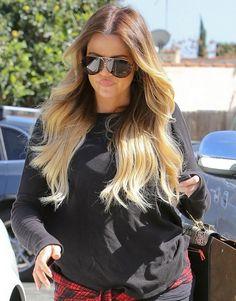 Khloe Kardashian Blonde Ombre Hair 2014 - Everytime I just went darker, Khloe Kardashian makes me miss blonde hair!
