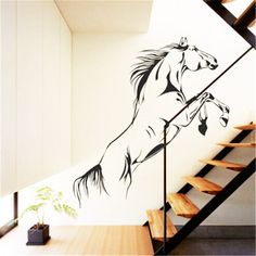 Fashion Beauty Pvc Material Jumping Horse Vinyl-Decal from Alyomar