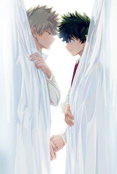 Katsuki Bakugou and Izuku Midoriya (Boku No Hero Academia) Boku No Hero Academia, My Hero Academia Manga, Anime Love, Anime Guys, Wattpad, Days Manga, Deku X Kacchan, Bakugou Manga, Satsuriku No Tenshi