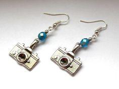 Kolczyki fotograficzne :) w Especially for You! http://pl.dawanda.com/shop/slicznieilirycznie #kolczyki #earrings #crystals #kryształki #handmade #DaWanda #camera #aparat