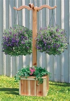 Hanging Planter Box Woodworking Plan Do you love your flowers but are limited on space? Well with this attractive Hanging Planter Box Woodworking plan you can fix that problem! Not only can you hang t