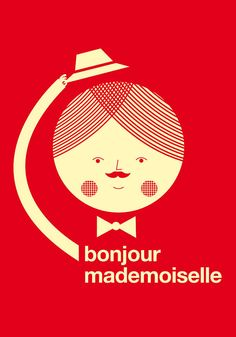Bonjour mademoiselle red print | Blanca Gomez
