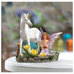 Fairy And Unicorn Statue
