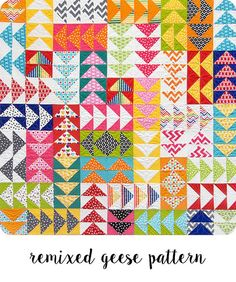 Remixed Geese Pattern Tutorial