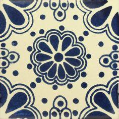 Traditional Spanish Blue Decorative tile