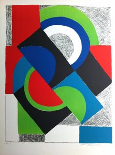 Sonia Delaunay, Contrepoint, c. 1968, original lithograph, 76,2 x 55,9 cm, Private Collection