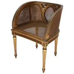 Louis XVI Style Cane Chair For Sale