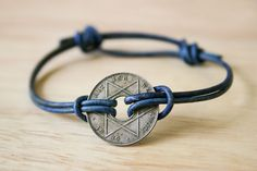 Simple Sliding Knot Bracelet tutorial with vintage African coin :: obviously would work with embellished washers or as a watchband