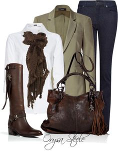 """""""Weathered"""" by orysa on Polyvore - I could go horseback riding like this AND look good doing it"""