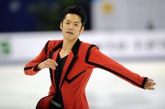 Daisuke Takahashi of Japan performs his routine in the men's short program during The Cup of China, the third event on the ISU Grand Prix figure skating tour, in Shanghai on November 2, 2012.