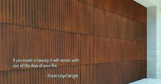 Copper Sheets, Axolotl, A Day In Life, Frank Lloyd Wright, Conception, Facade, Opportunity, Garage Doors, Outdoor Decor