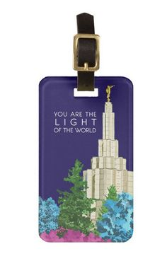 Light of the World LDS Temple Luggage Tag