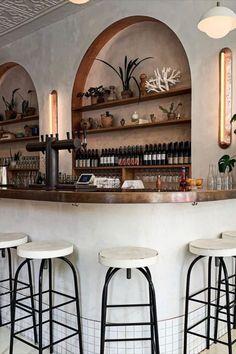 Design Exterior, Bar Interior Design, Restaurant Interior Design, Cafe Interior, Restaurant Ideas, Resturant Interior, Cafe Shop Design, Cafe Concept, Home Bar Designs